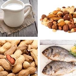 koemelk, noten, pinda, vis2